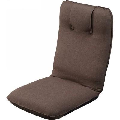 低反発折りたたみ座椅子 ブラウン ST-016BR ポイント10倍