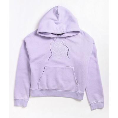 オベイ OBEY レディース パーカー トップス harbor lavender cropped hoodie Light/pastel purple