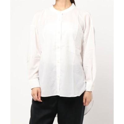 シャツ ブラウス バンドカラーシャツ