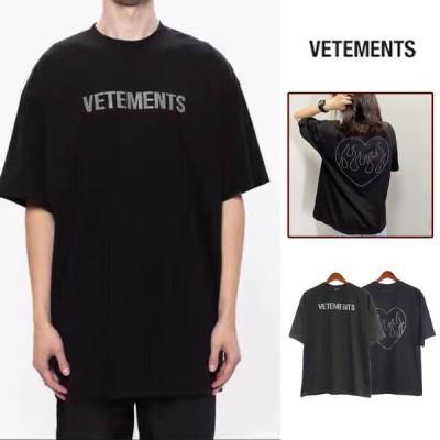 VETEMENTS ヴェトモン Tシャツ カットソー レディース メンズ シンプル トップス Tシャツ 半袖 メンズ レディー ス ファッション