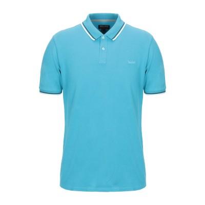 ウールリッチ WOOLRICH ポロシャツ アジュールブルー S コットン 95% / ポリウレタン 5% ポロシャツ