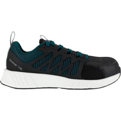リーボック スニーカー シューズ レディース Reebok Women's Fusion Flexweave FloatRide Energy Athletic Work Shoes Black/Dark Green