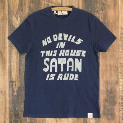 デウスエクスマキナ Deus ex machine BAD MANNERS TEE メンズ Tシャツ ネイビー