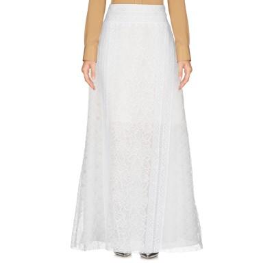 オスカー・デ・ラ・レンタ OSCAR DE LA RENTA ロングスカート ホワイト 8 ナイロン 94% / ポリウレタン 6% ロングスカート