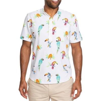 チャビーズ メンズ シャツ トップス The Dude Where's Macaw Short-Sleeve Stretch Shirt