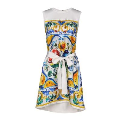 ドルチェ & ガッバーナ DOLCE & GABBANA ミニワンピース&ドレス ホワイト 38 シルク 100% ミニワンピース&ドレス