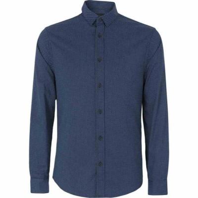 アルマーニ ARMANI EXCHANGE メンズ シャツ トップス patterned shirt Dark blue