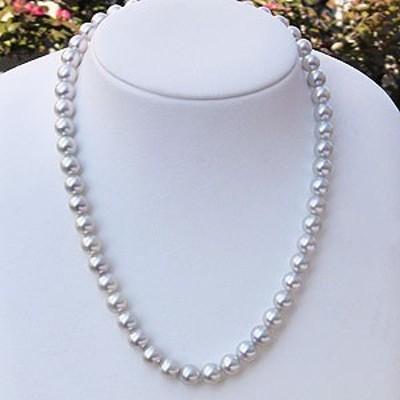 真珠 パール ネックレス チョーカー あこや本真珠 ナチュラル 8mm-8.5mm レディース 冠婚葬祭