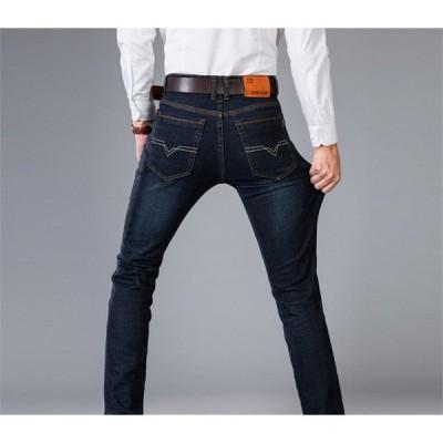 デニムパンツ メンズ ロングパンツ 無地 ボトムス スジーンズ メンズ ジーパン 春 秋