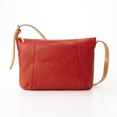 バッグ カバン 鞄 レディース ショルダーバッグ 本革ショルダーバッグ[日本製] カラー 「レッド」