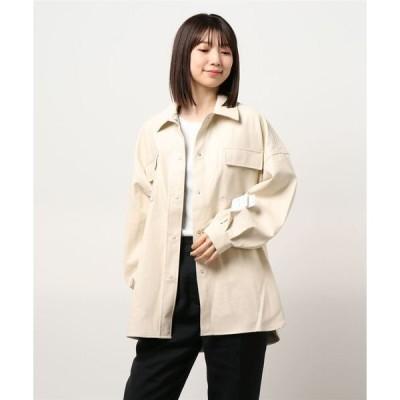 ジャケット ブルゾン フェイクレザーシャツジャケット/B
