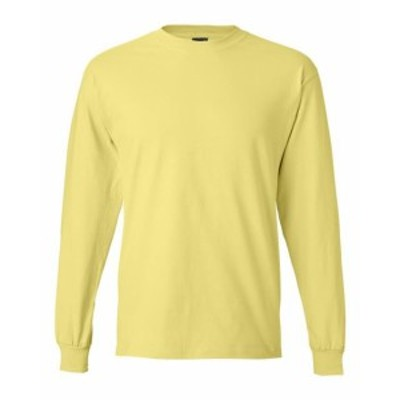 Hanes  ファッション トップス Hanes Mens 6.1 oz. Long-Sleeve Beefy-T 5186 S-3XL