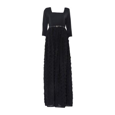 FELEPPA ロングワンピース&ドレス ブラック 38 ポリエステル 100% ロングワンピース&ドレス