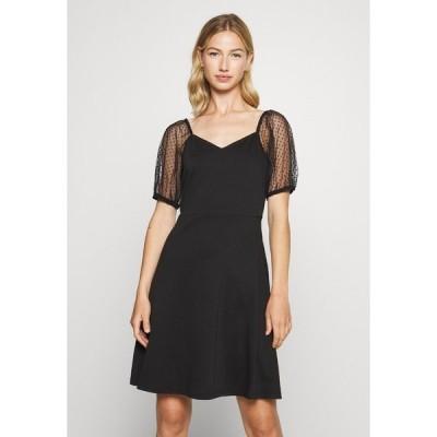 ヴィラ ワンピース レディース トップス VITINNY OPEN NECK DRESS - Jersey dress - black