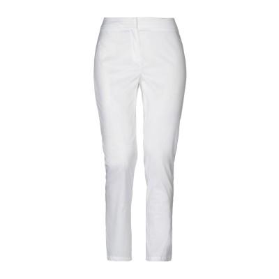 I BLUES パンツ ホワイト 42 コットン 70% / ナイロン 25% / ポリウレタン 5% パンツ