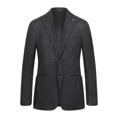 ラルディーニ LARDINI テーラードジャケット 鉛色 50 ウール 58% / シルク 33% / ナイロン 9% テーラードジャケット