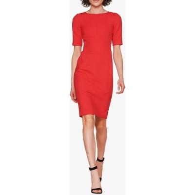 スイスタジオ レディース ワンピース トップス Abril Wool Blend Sheath Dress RED
