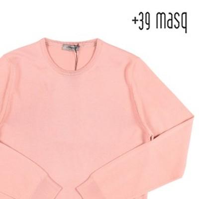 +39 masq(マスク) 丸首セーター 9000 ピンク XXL 23563pk 【W23567】