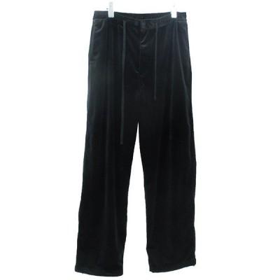 MONKEY TIME VELVET WIDE EASY ベロアワイドイージーパンツ ブラック サイズ:L (三軒茶屋店) 210108