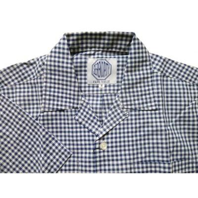 (フェアヴァリュー)FAIRVALUE 半袖 開襟シャツ オープンシャツ 両胸ポケット チェック柄 【FAIRVALUE】