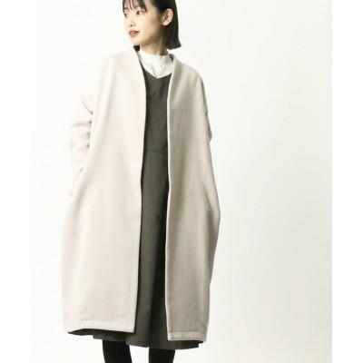salle de bal / 【 HEAVENLY / ヘヴンリー 】 フェイクウールノーカラーロングコート Fake Wool Coat   2061163 WOMEN ジャケット/アウター > チェスターコート