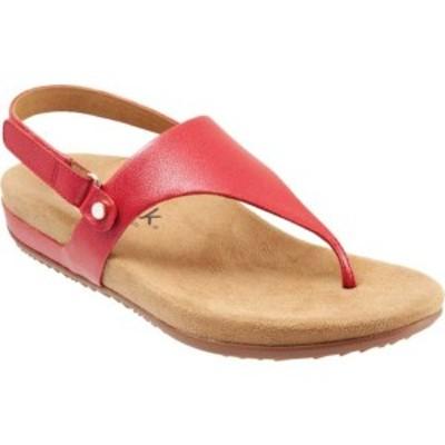 ソフトウォーク レディース サンダル シューズ Bolinas Thong Sandal Red Leather