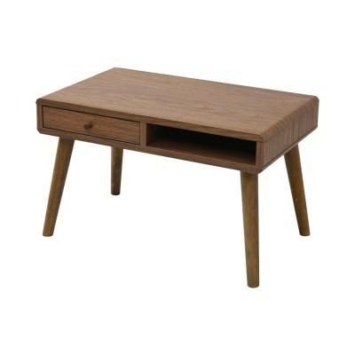 丸みがかわいい北欧調リビングテーブル