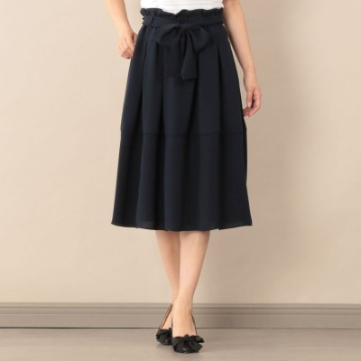 【ウォッシャブル】スポンジージョーゼットスカート