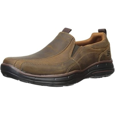 Skechers メンズ Glides Docklands スリップ-On Loafer,ダーク ブラウン,14 M US(海外取寄せ品)