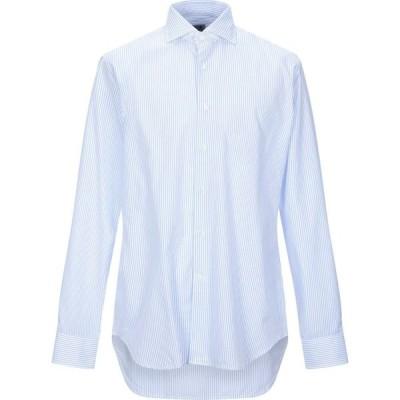 MCR メンズ シャツ トップス Striped Shirt Sky blue