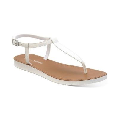 サンストーン レディース サンダル シューズ Kristi T-Strap Flat Sandals