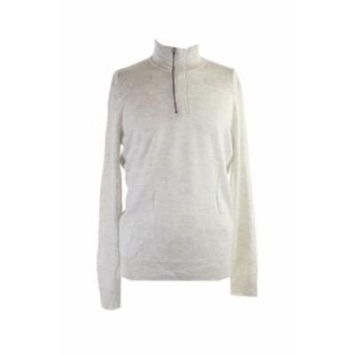 ファッション トップス INC INTERNATIONAL CONCEPTS GREY OBSIDIAN QUARTER-ZIP SWEATER L