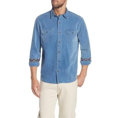 タイラービンテージ メンズ シャツ トップス Indigo Denim Dobby Regular Fit Shirt MEDIUM WASH