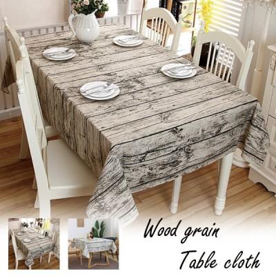 木目調 テーブルクロス おしゃれ 北欧 インスタ 映える 料理 撮影 ウッドテーブル デザイン アウトドア 180 白 長方形 インテリア テーブルマット