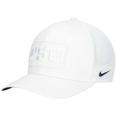 ナイキ メンズ 帽子 アクセサリー Penn State Nittany Lions Nike Classic 99 Trucker Snapback Hat White