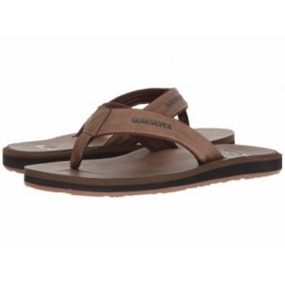Quiksilver クイックシルバー メンズ 男性用 シューズ 靴 サンダル Carver Nubuck Tan Solid【送料無料】