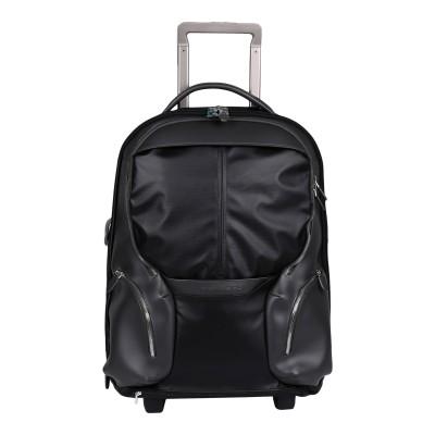 PIQUADRO キャスター付きバッグ ブラック 牛革 / ポリエステル / ポリ塩化ビニル キャスター付きバッグ