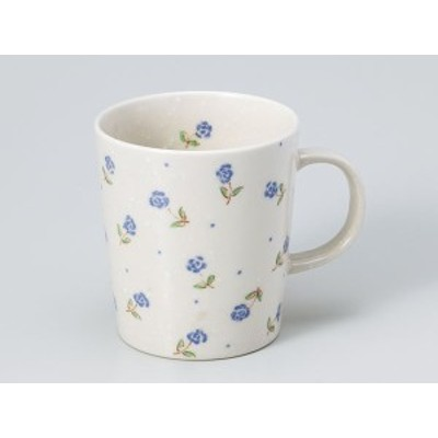 コーヒー カップ コップ/ バラ軽マグ 青 /業務用 家庭用 人気 ギフト 贈り物 花 フラワー おしゃれ かわいい インスタ