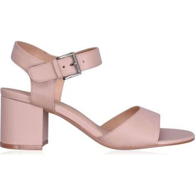 リネアペレ Linea レディース サンダル・ミュール シューズ・靴 block heel sandals Nude Leather