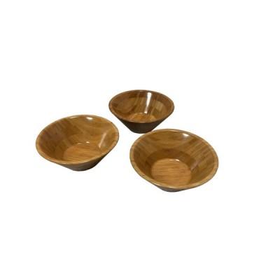 サラダボウル(小)竹 木製 丸型 3個セット 食器 15cm 【在庫処分】