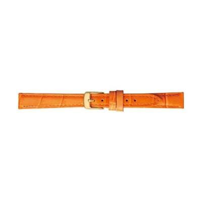 BAMBI バンビ 時計バンド 牛革 オレンジ 12mm 美錠 ゴールド BK009O-I
