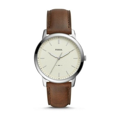 腕時計 フォッシル メンズ  Fossil Men's The Minimalist Three-Hand Brown Leather Watch FS5439