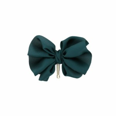 ポニーフック ヘアフック ヘアカフス ヘアアレンジ ポニーテール まとめ髪 リボン HCF0057-GR グリーン おしゃれ かわいい 人気