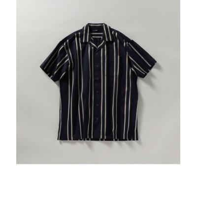 SHIPS: シルケット ラッセル ストライプ オープンカラー シャツ