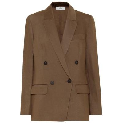 ヴィンス Vince レディース スーツ・ジャケット アウター Stretch cotton and linen blazer Timber