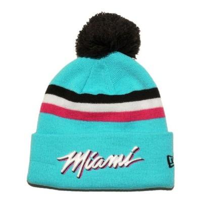 ニューエラ ニット帽 帽子 NEW ERA メンズ レディース NBA マイアミ ヒート lbe