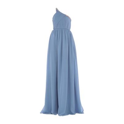 ランバン LANVIN ロングワンピース&ドレス アジュールブルー 42 シルク 100% / ガラス / プラスティック ロングワンピース&ドレス