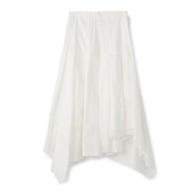 スカート INSCRIRE / レースタックフレアスカート