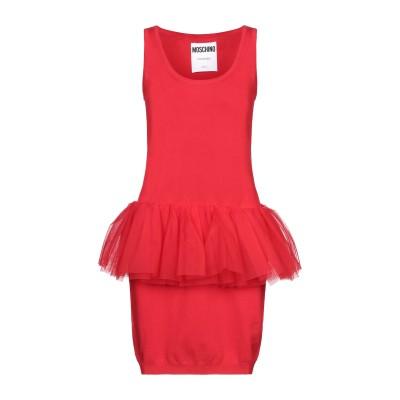 モスキーノ MOSCHINO ミニワンピース&ドレス レッド 38 ナイロン 100% ミニワンピース&ドレス