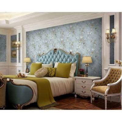 送料無料 糊なし壁紙 田園風 花柄 はがせる ウォールステッカー  diy 模様替え 暖かい ロマンチック ベッドルーム(180807129)
